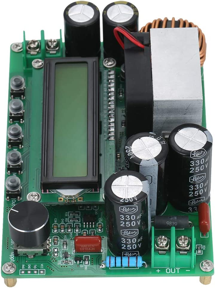 VISLONE Computer Communication MPPT Boost Buck Converter 800W 10-65V to 12-120V Digital LCD Display Automatic Step Up Buck Boost Converter Power Supply Module Adjustable Board