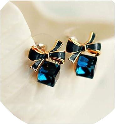 Cubic crystal drop earrings Cute earrings Simple earrings Dainty cube earrings Minimalist cube earrings