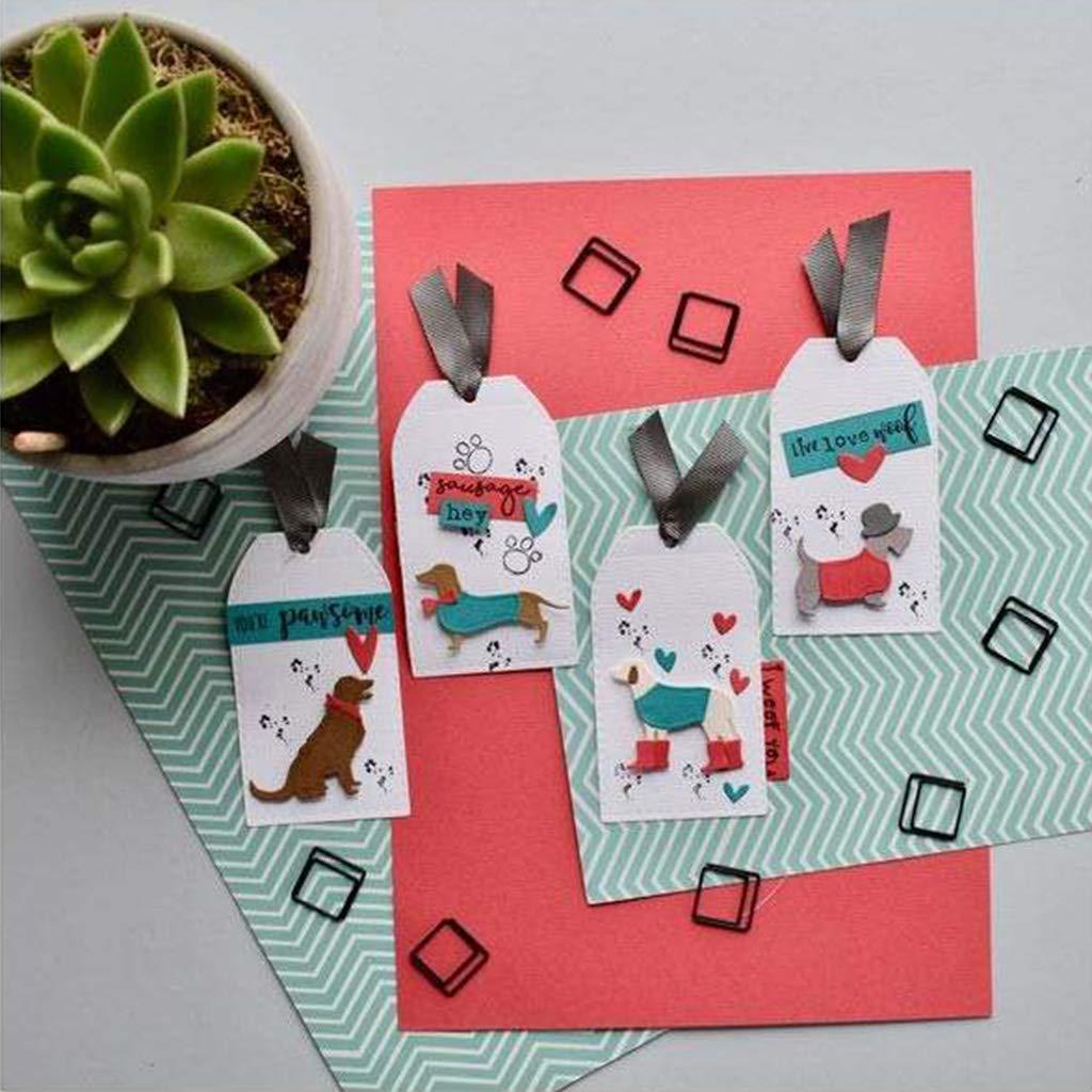 Chou 1 Troquel de Corte de Perro gofrado decoraci/ón Artesanal Bonito Recorte para Recortes