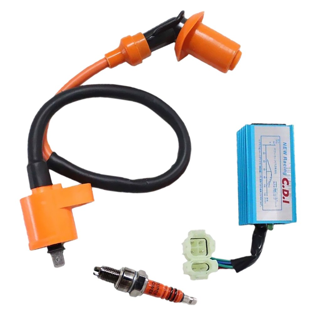 Baoblaze Ignition Coil Wire Spark Plug Racing CDI Box Kit for GY6 50CC 125cc 150cc Scooter ATV