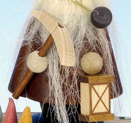 German Incense Smoker Dwarf natural colors - 10,5 cm / 4 inch - Christian Ulbricht