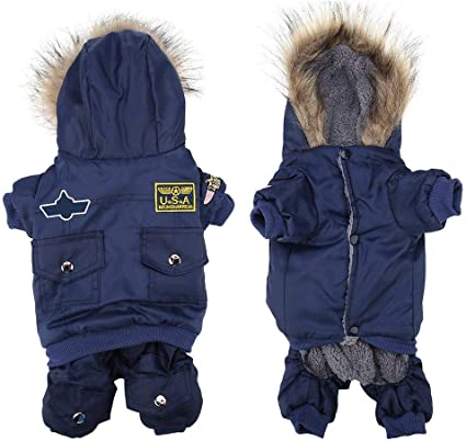 Small Pet Dog Cat Winter Warm Coat Jumpsuit Puppy Jacket Clothes Apparel XS-XL