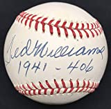 Ted Williams 1941-406 Hand Signed Baseball JSA Authentication Loa Boston Red Sox
