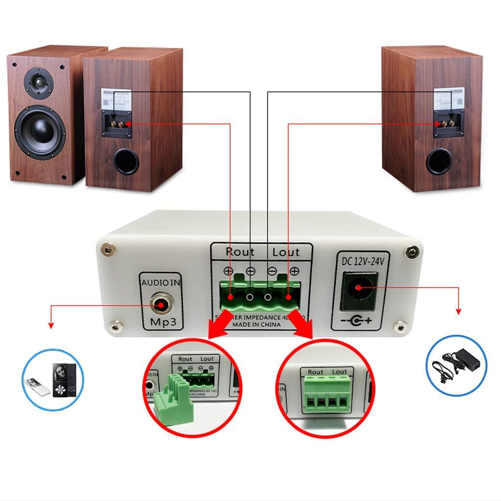 perfk Amplificador Digital Bluetooth de Audio Estéreo con Control Remoto