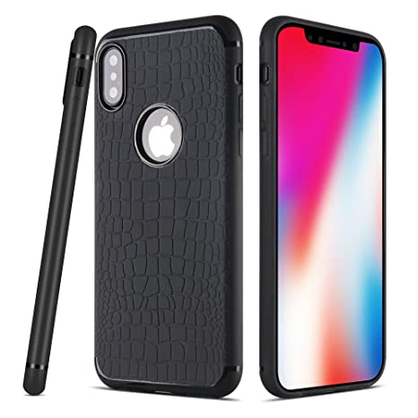 custodia iphone x in ferro