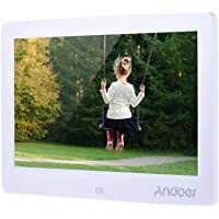 Andoer 12-inch HD LED Digital Picture Frame Wide Screen Digital Album High Resolution 1280 * 800 Electronic Photo Frame with Remote Control White