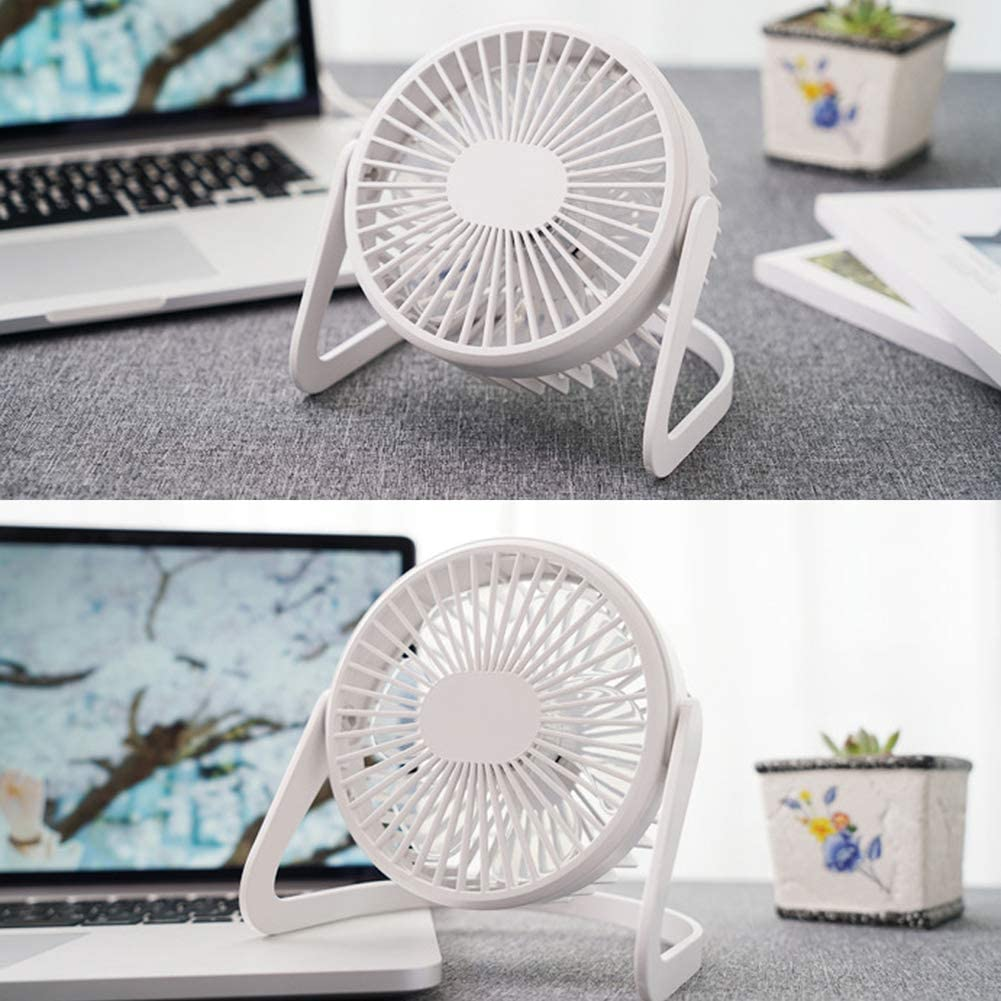 buyanputra Portable Super Quiet USB Desk Fan Home Office Air Cooler Electric Table Fan