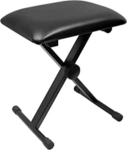 OZSTOCK Portable Piano Stool Adjustable 3 Way Folding Keyboard Seat Bench Chair
