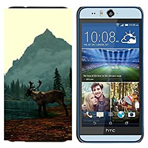 TECHCASE---Cubierta de la caja de protección para la piel dura ** HTC Desire Eye ( M910x ) ** --Alce Elk Lake