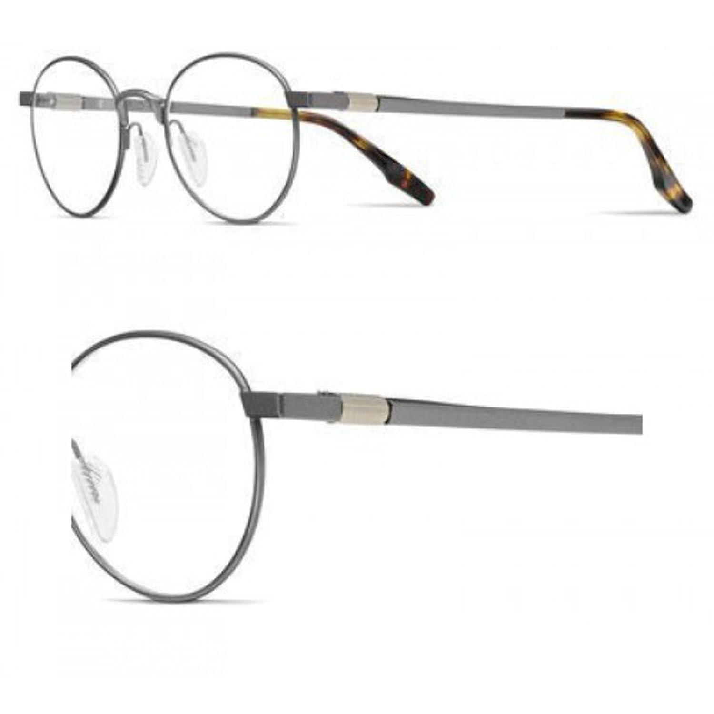 Eyeglasses New Safilo Bussola 3 0R80 Semi Matte Dark Ruthenium