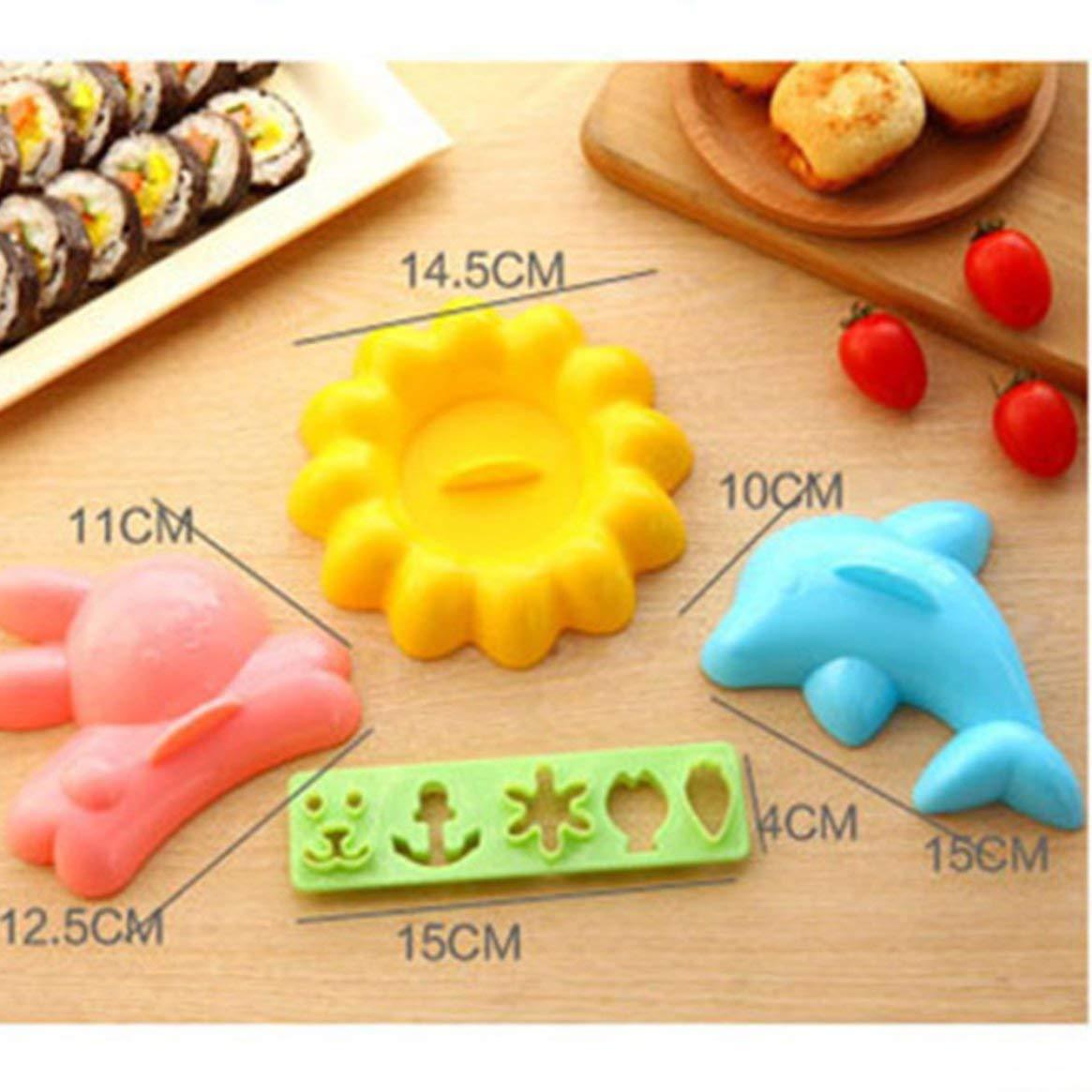 4 teile/satz Schö ne Cartoon DIY Reis Ball Mold Kinder Lebensmittel Cartoon Tier Styling Werkzeuge Kreative Kü che Liefert Frü hstü ck Reisform Delicacydex