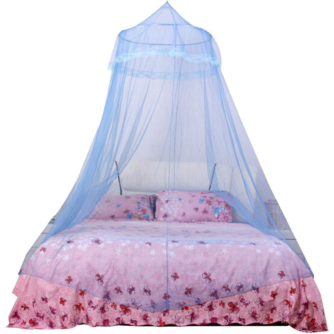 Elevin Insect Protection Dome Lace Mosquito Nets Indoor Outdoor Play Tent Bed Canopy TM Mosquito Net Bed Canopy White