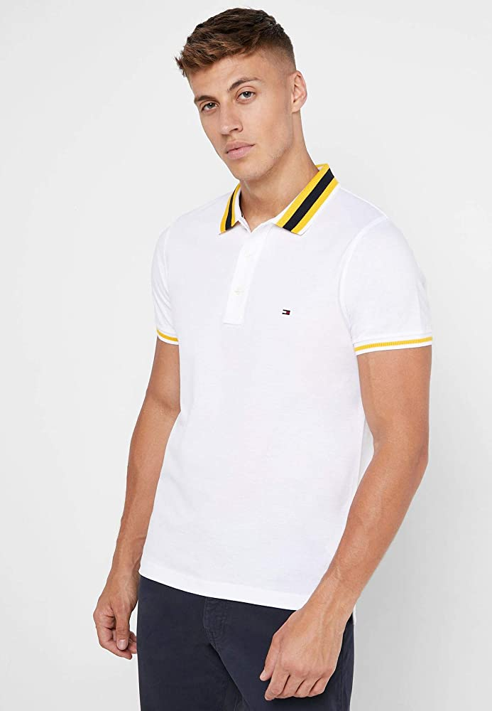 Tommy Hilfiger MW0MW11619 - Knitted Tipped Collar Slim Polo Hombre ...