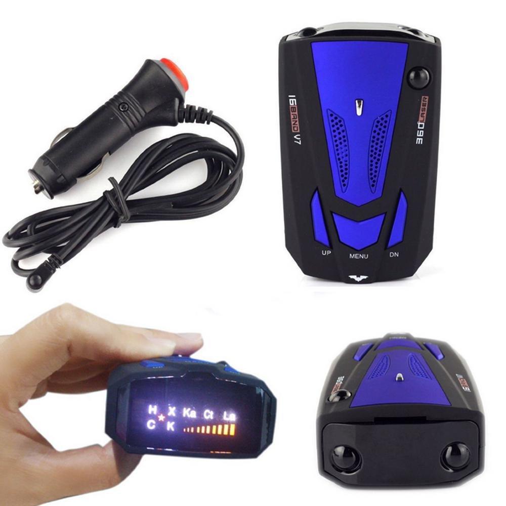 Teepao auto radar detector super-thin High performance radar con rivelatore di allarme vocale e sistema di allarme auto velocit/à,360/gradi di rilevamento e 500/m Long Range