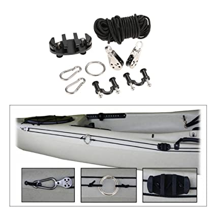 Amazon Com Pad Eye Anchor Trolley Kit For Kayak Diy