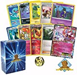 50 Pokemon Card Lot - Featuring AZ Trainer Card 1 Random Fairy EX and 1 Random Floette! Rares Foils and Coin Included!