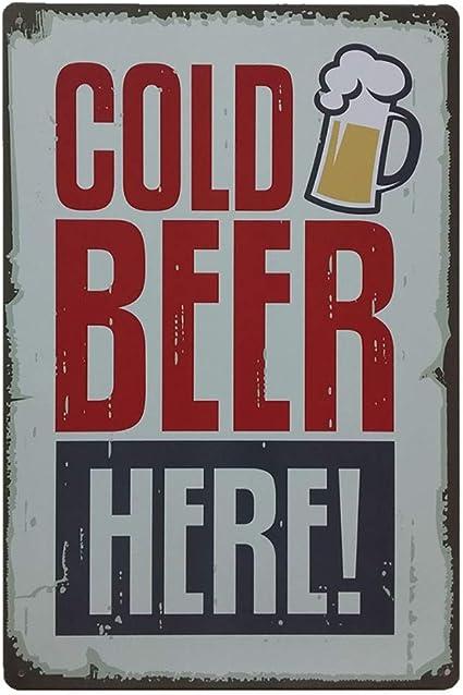 30x20cm // 11.81x7.87 a Sunnymi vintage plaque en m/étal Art Plaque Plaque Poster Bar Pub Club Cafe Home D/écoration murale boissons Th/ème L*W