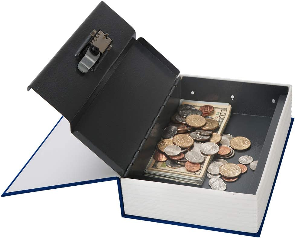 Diversion/Book/Safe/with/Combination/Lock,/Decaller/Hidden/Safe/Box/of/Dictionary/Shape/,/7.2/x/4.6/x/2.2