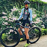 Womens Long Sleeve Cycle Jersey Cycling Clothing Suit Tights Triathlon Apparel for Road Bike and Mountain Bike