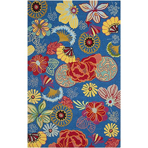 Safavieh Four Seasons Collection FRS470A Hand-Hooked Blue and Red Indoor/ Outdoor Area Rug (8' x 10') ()