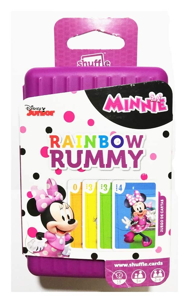 Shuffle Juego Rainbow Rummy Minnie Disney: Amazon.es: Juguetes y ...