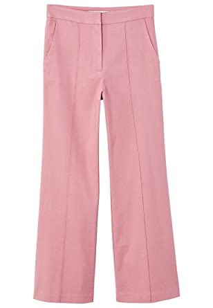 MANGO Women's Straight Linen-Blend Trousers at Amazon Women's Clothing  store: