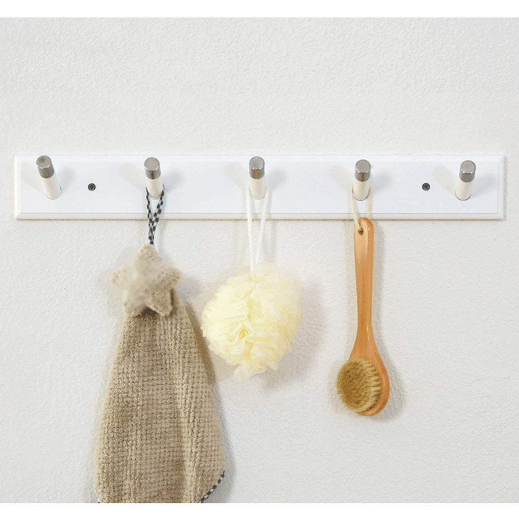 SED Coat Rack-Hanger Floor Bedroom Wall Hanging Woody Simple Modern Multifunction Hall Kitchen Sturdy Space Saving Storage Rack,4 Hooks,White