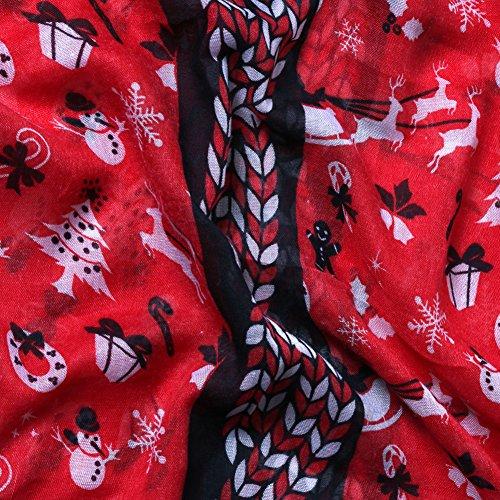 Femme De Écharpe 4 Modèles Édition Accessoryo Pour Thème Limitée Rouge Disponible Noël En RZpp8xqw