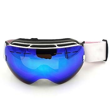 Gafas de esquí, spohife Snowboard Gafas de esquí gafas doble lente antiniebla UV protección Compatible con Casco Patinaje Gafas para Mujeres Hombres Niños ...