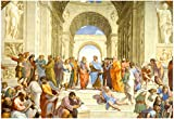 Raphael (The School of Athens) Restored Art Poster Print 19 x 13in