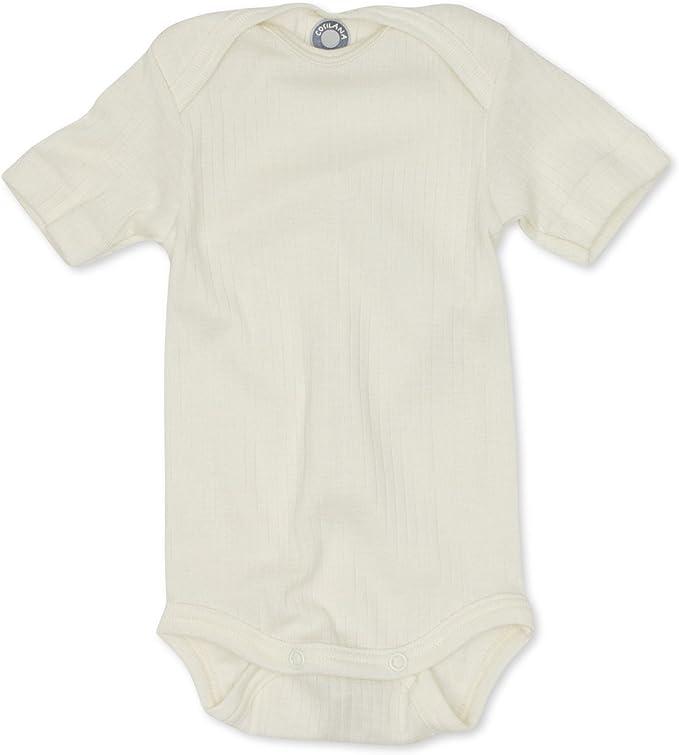 Baby Body Öko,Bio langarm natur Baumwolle//Wolle//Seide Gr 74//80