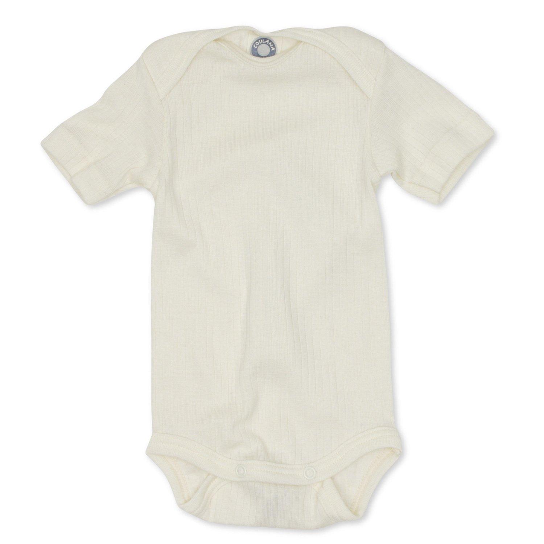 Cosilana/ 35/% lana de merino org/ánica 20/% Seda 45/% algod/ón org/ánico /Baby Body de manga corta