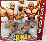 THE ROCK & TRIPLE H (HHH) - WWE RUMBLERS TOY WRESTLING ACTION FIGURES
