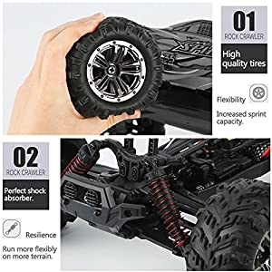 Hosim High Speed 36km/h 4WD 2.4Ghz Remote Control Truck 9130, 1:16 Scale Radio Conrtolled Off-road RC Car Electronic Monster Truck R/C RTR Hobby Cross-country Car Buggy (Blue)