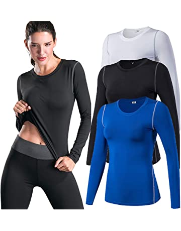 ENIDMIL Women Compression Shirt Cool Dry Long Sleeve Workout Tops Athletic  T-Shirt 7fe527f0c