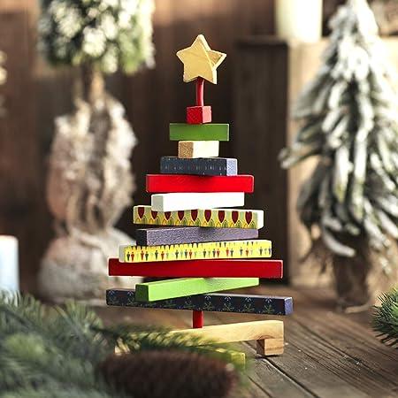 Pequeño 3D Árbol De Navidad Niños, Hecho A Mano Madera Adornos Mesa Abeto De Navidad Niño Bricolaje Niños Inicio Decoración-11 * 7inch: Amazon.es: Hogar