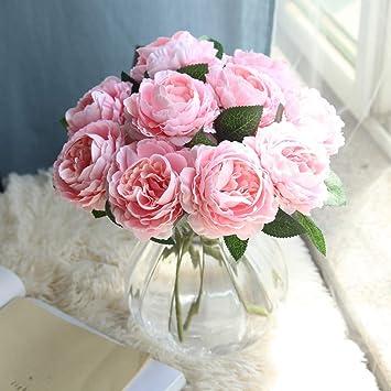 Amygline Kunstliche Blumen Pfingstrose Rosen Blumen Hochzeitsstrauss