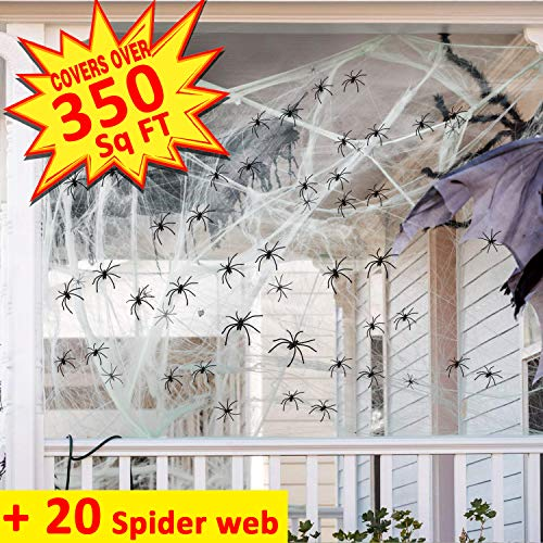 Outdoor Halloween Decorations Super Stretch Spider Web 350sq