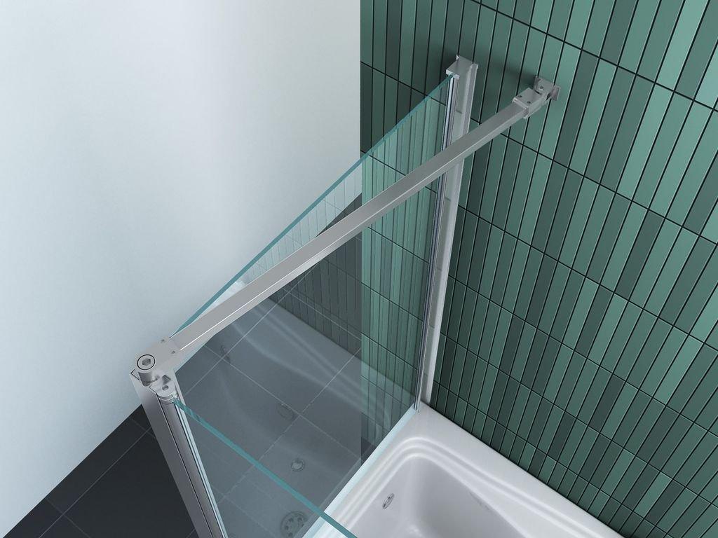 Eck-Duschtrennwand INTREXO 70 (Badewanne): Amazon.de: Baumarkt | {Duschabtrennung badewanne über eck 93}