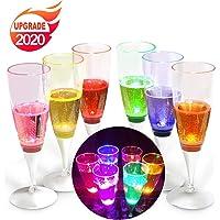 YANX Copa de Champán de LED Líquido Activado