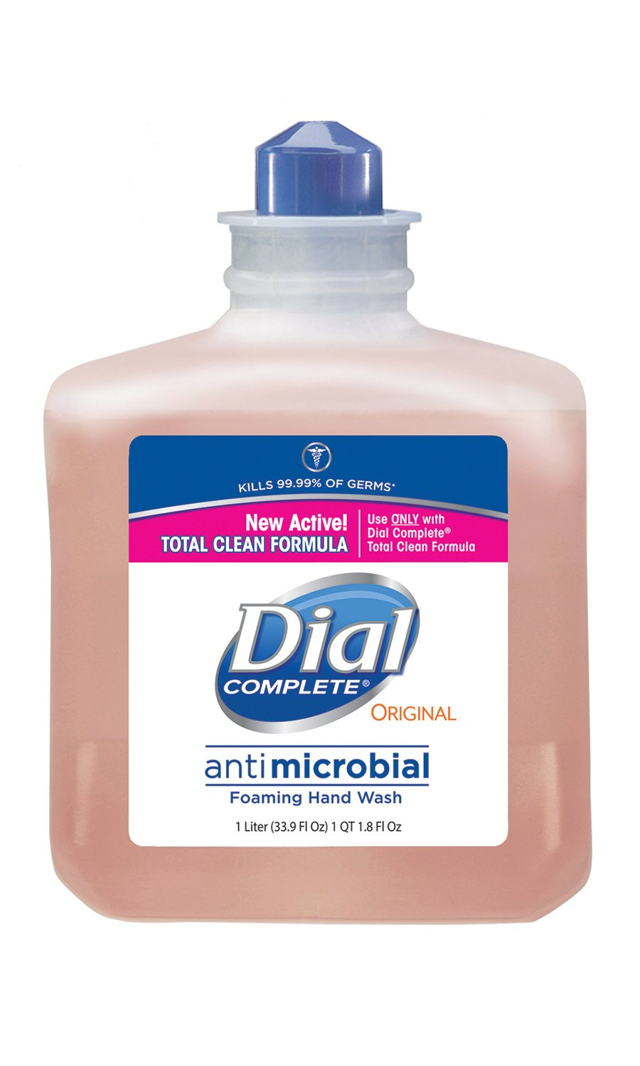 Dial Complete 1206709 Antimicrobial Foaming Hand Soap, 1 Liter Manual Refill (Pack of 6) by Dial