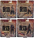 Walking Dead TV Series Set of 4 Action Figures w/ Daryl Dixon by McFarlane Toys