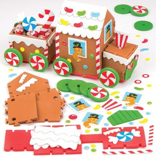 Baker Ross Kit de Train en Pain d'épices pour Les Loisirs Créatifs et Les Décorations de Noël des Enfants (l'unité)