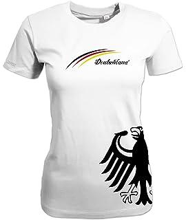 1b68f1226d1a1f WM 2018 Deutschland Adler - 4 Sterne Gold - Damen T-Shirt  Amazon.de ...
