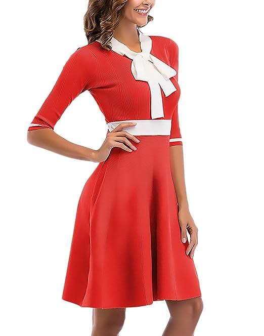 Abiti Da Cerimonia Donna Eleganti Corti Vestiti Anni 50 Linea Ad A Vintage  Moda Abbigliamento Dresses 918547c662d