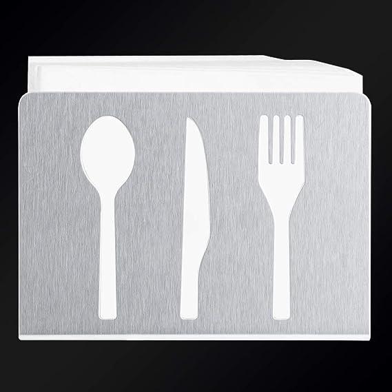 DaMohony Servilletero de acero inoxidable con soporte moderno para servilletas, decoración de mesa: Amazon.es: Hogar