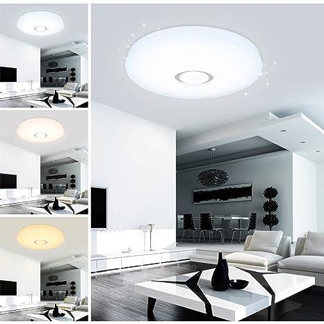 Vingo 60W Farbwechsel Deckenlampe LED Deckenleuchte Lampen ideal für  Badezimmer Balkon Flur Küche Wohnzimmer Badezimmerlampe