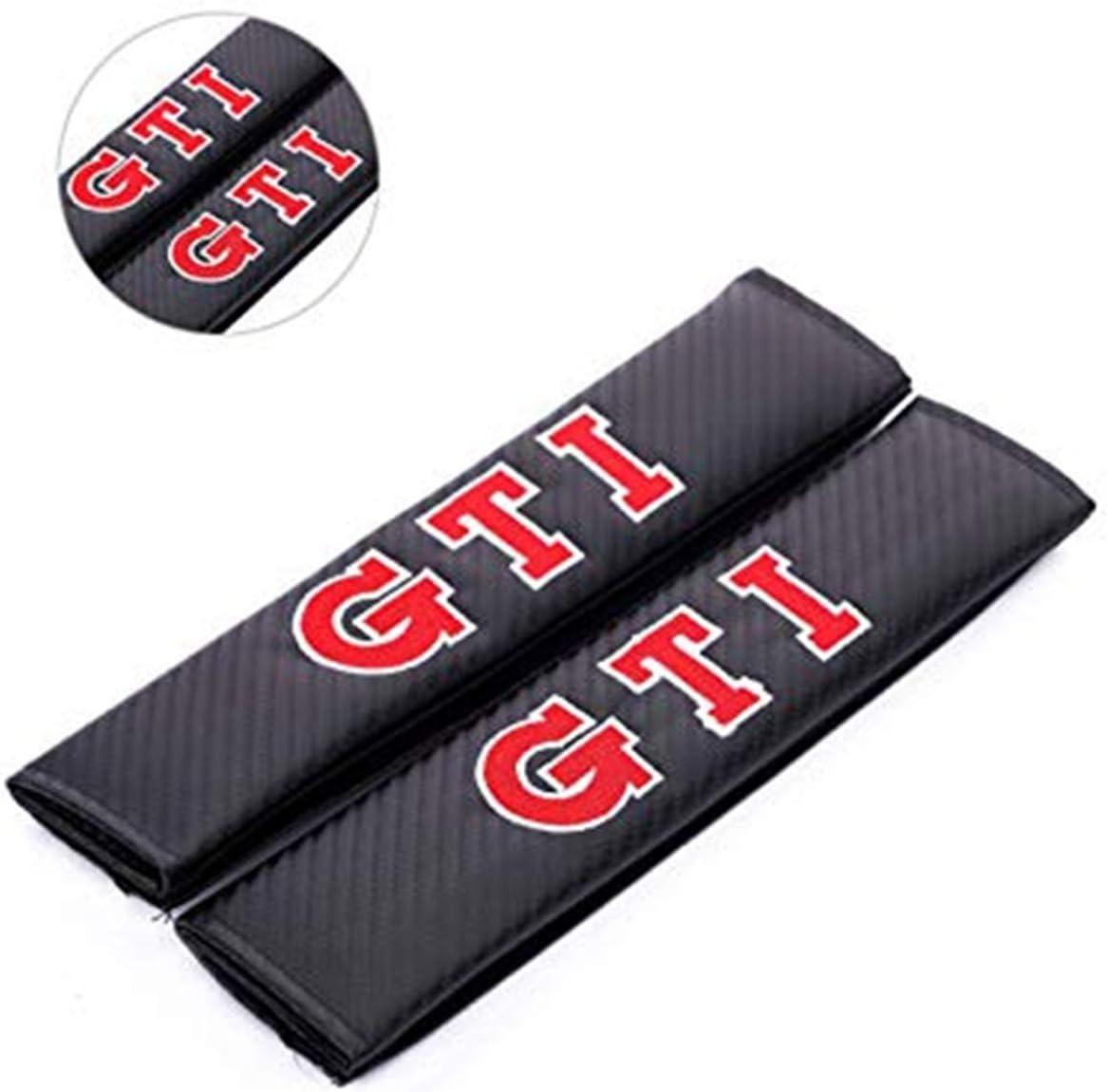 YYYeek 2 Alfombrilla de Fibra de Carbono para cintur/ón de Seguridad de Coche para Bordado GTI