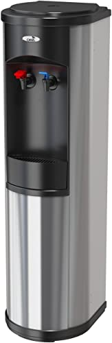 Magic Mountain Water Products Presents the Oasis Artesian Bottleless Water Dispenser Hot Cold w 2 Stage EZ Change, Stainless Steel