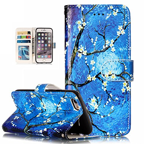 iPhone 6S Case,iPhone 6 Case, Dooge Cameo Design Shockproof [Kickstand Feature] Premium PU Leather Flip Folio Wallet Case with with ID&Credit Card Pockets Cash Clip, Magnetic Closure for iPhone ()